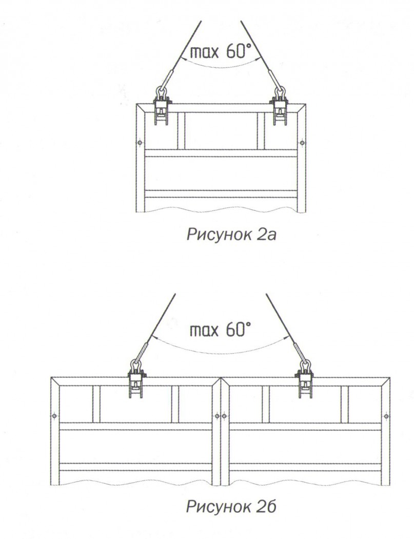Схема подвески щитов опалубочных
