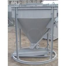 Бадья для бетона вертикальная НИЗКАЯ БН-1 (высота 1.6 м) без воронки и лотка