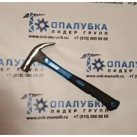 Молоток-гвоздодер с фиберглассовой ручкой *ПРОФИ*500г (с магнитом)