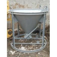 Бадья для подачи бетона БН-0,5 (с лотком или воронкой)