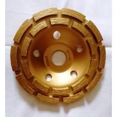 Чашка алмазная двухрядная 125 сегмент ( Жёлтая )