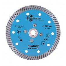 Алмазный диск с фланцем 125 Turbo hot press FHQ452