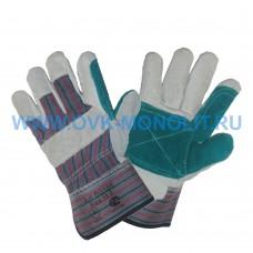 Перчатки спилковые комбинированные Докер