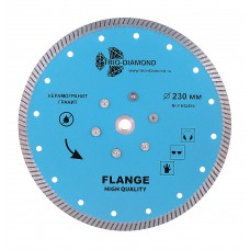 Алмазный диск с фланцем 230 Turbo hot press FHQ456